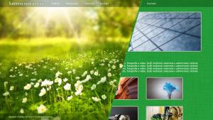 Šablona sytě zelená
